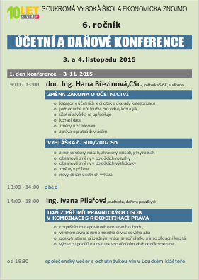 program - prvni den konference